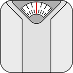 cartoon weighing scales
