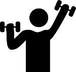 silhouette exercise with weights